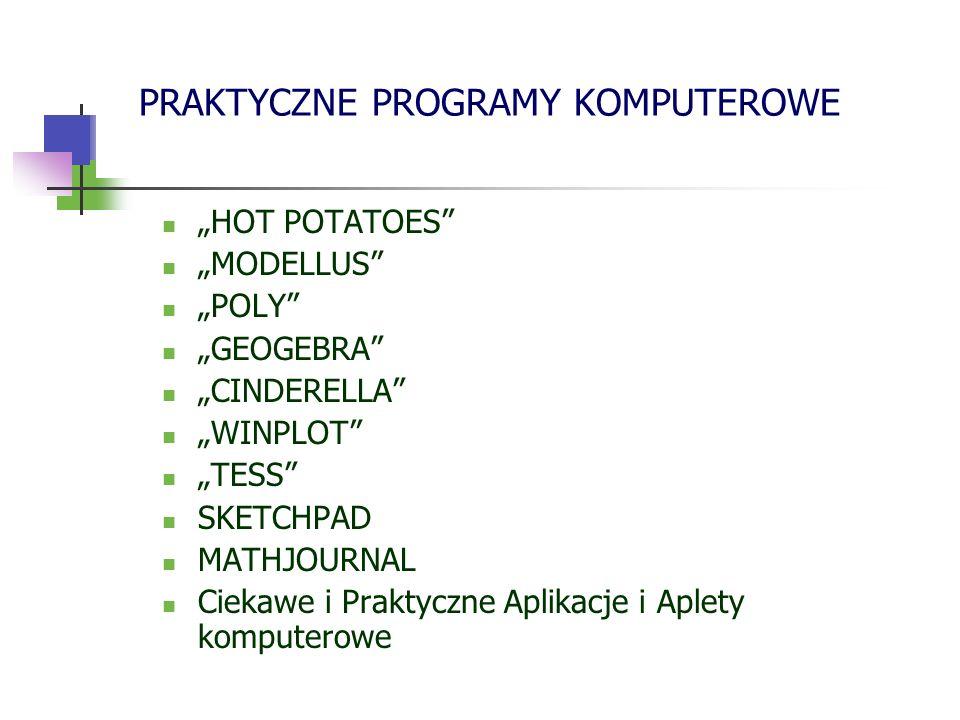 POLY Poly jest programem służącym poznawaniu wielościanów.