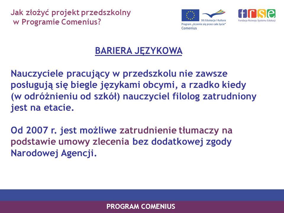 Jak złożyć projekt przedszkolny w Programie Comenius.