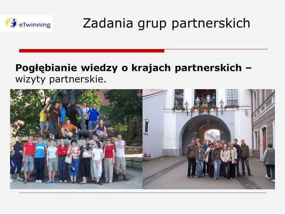 Pogłębianie wiedzy o krajach partnerskich – wizyty partnerskie.