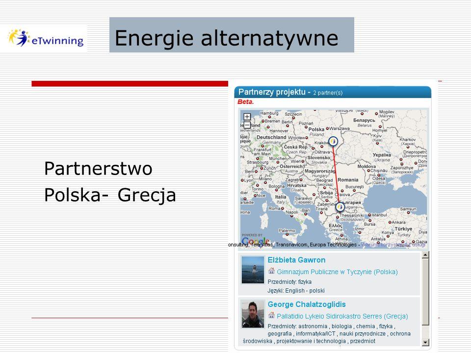 Energie alternatywne Partnerstwo Polska- Grecja