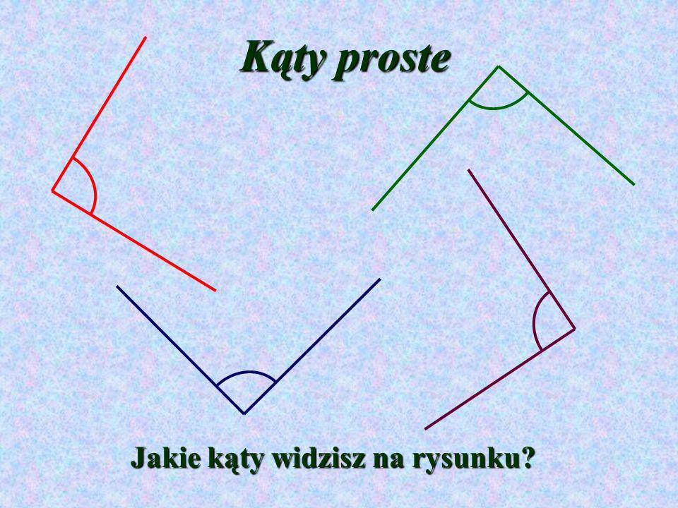 Kąty proste Jakie kąty widzisz na rysunku?