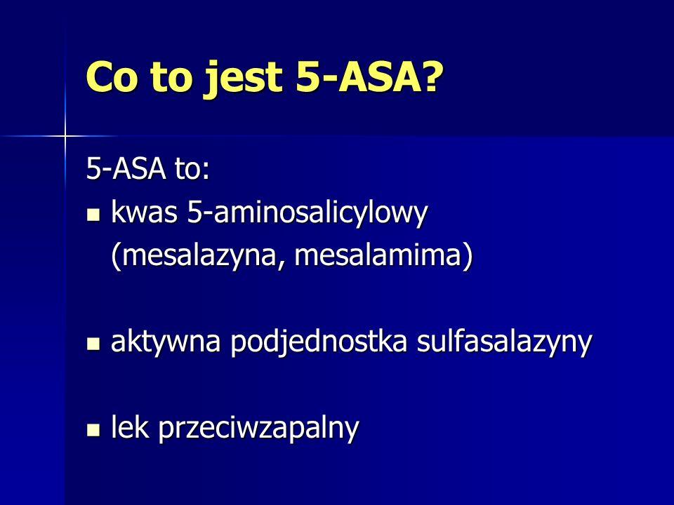 Czym 5-ASA różnią się od sulfasalazyny .