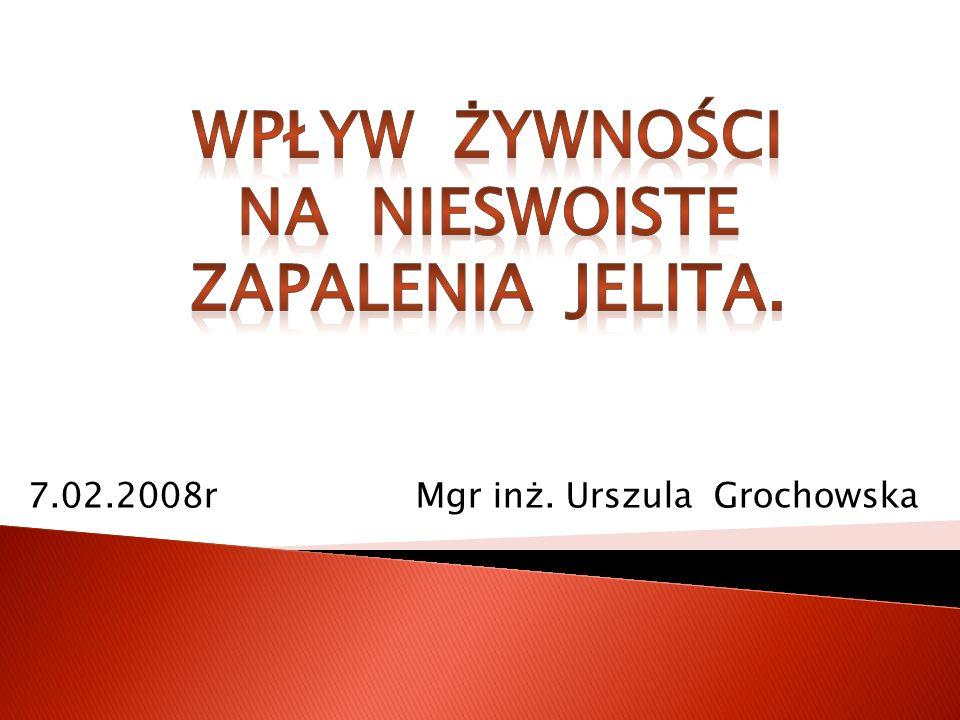 7.02.2008r Mgr inż. Urszula Grochowska