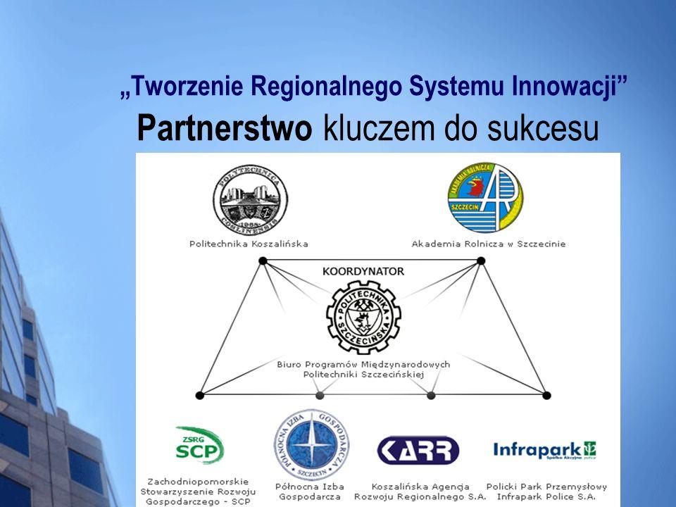 Tworzenie Regionalnego Systemu Innowacji Partnerstwo kluczem do sukcesu