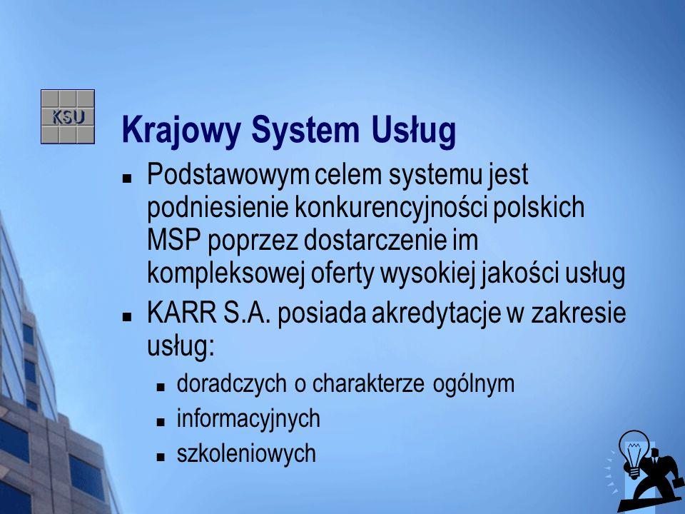 Krajowy System Usług Podstawowym celem systemu jest podniesienie konkurencyjności polskich MSP poprzez dostarczenie im kompleksowej oferty wysokiej ja