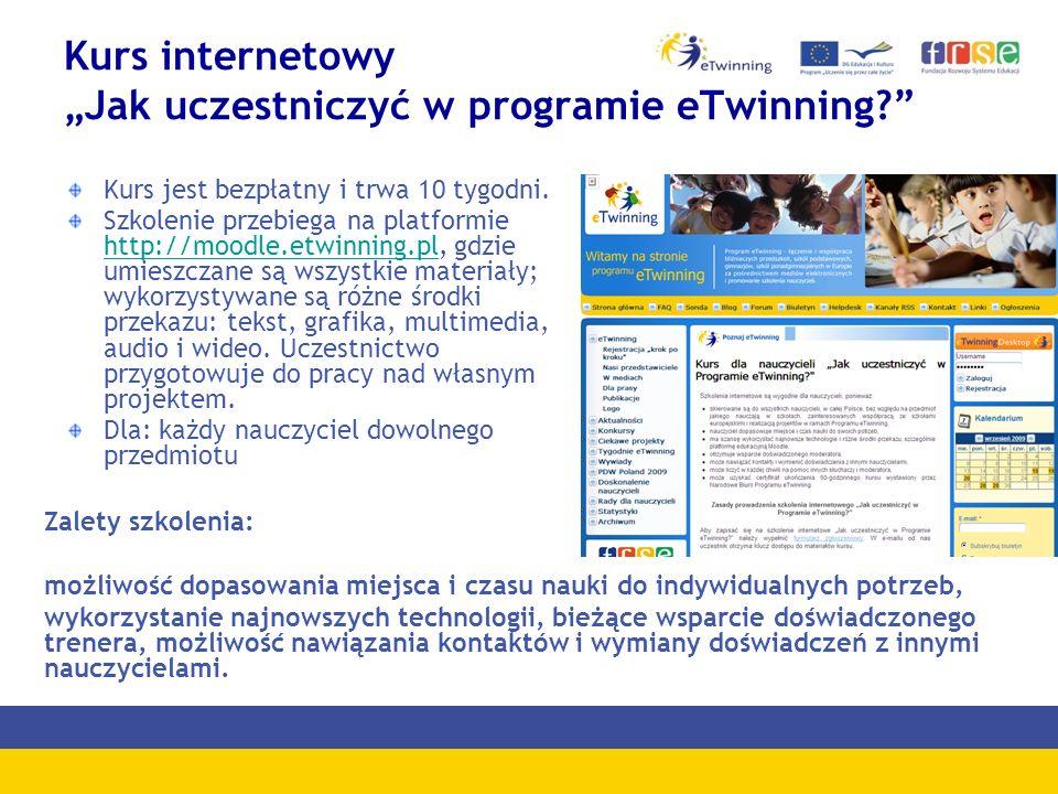 Kurs internetowy Jak uczestniczyć w programie eTwinning.