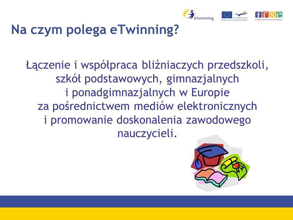 e- C zwartki Cotygodniowe bezpłatne warsztaty - w każdy czwartek Dla nauczycieli początkujących w eTwinning Rejestracja nauczycieli i szkół Narzędzia eTwinning: wyszukiwanie szkoły partnerskiej,TwinSpace, TwinBlog, KOJ, EOJ Certyfikaty Zgłoszenia: -formularz zgłoszeniowy (Aktualności) -etwinning@frse.org.pletwinning@frse.org.pl -Tel.