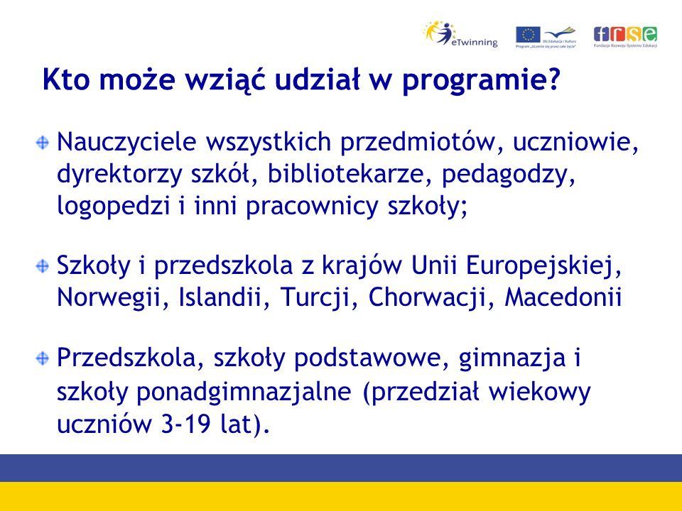 Helpdesk udziela informacji na temat programu eTwinning udziela pomocy : -rejestracja szkoły i nauczyciela -rejestracji projektu tel.: (022) 46 31 400 e-mail: helpdesk@etwinning.pl Skype: etwinning_polskahelpdesk@etwinning.pl