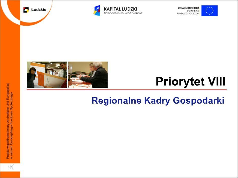 Priorytet VIII Regionalne Kadry Gospodarki 11