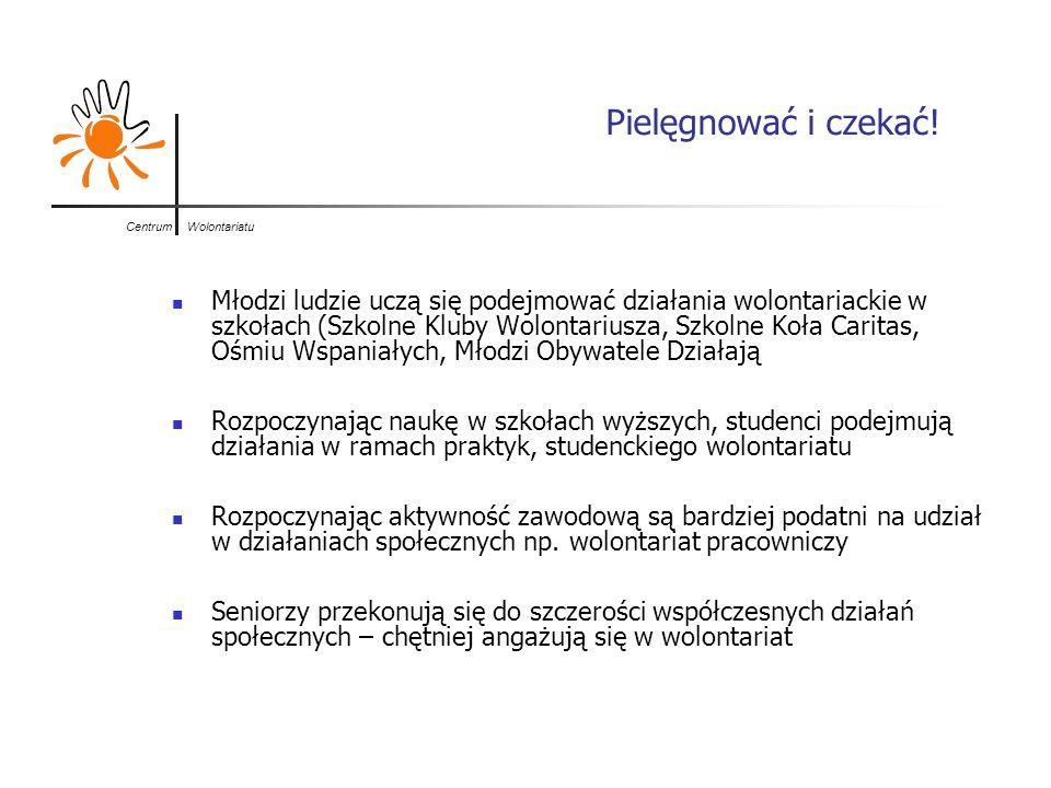 Centrum Wolontariatu Stan faktyczny a deklaracje