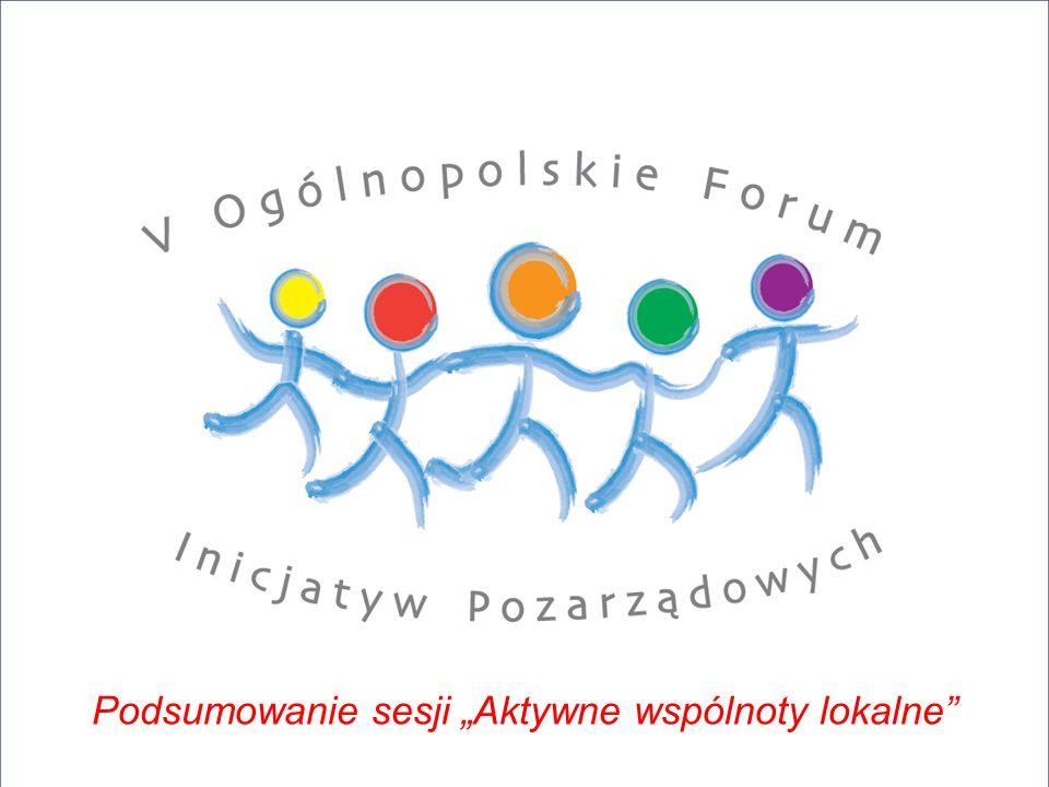 Podsumowanie sesji Aktywne wspólnoty lokalne