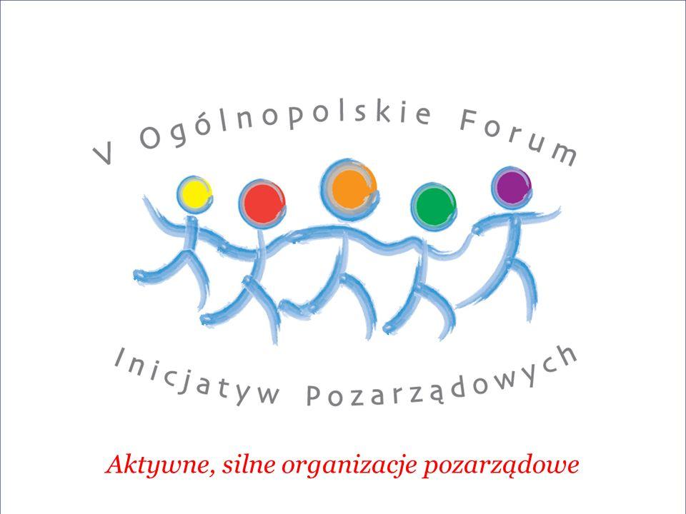 Aktywne, silne organizacje pozarządowe