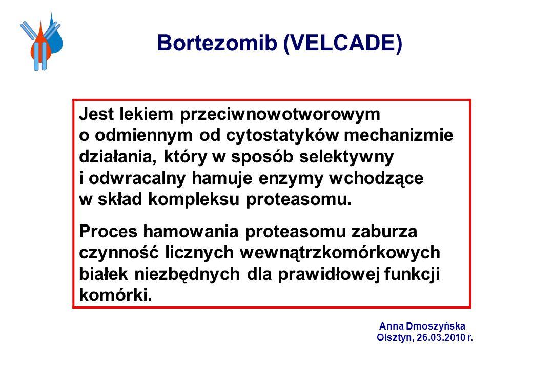 Jest lekiem przeciwnowotworowym o odmiennym od cytostatyków mechanizmie działania, który w sposób selektywny i odwracalny hamuje enzymy wchodzące w sk