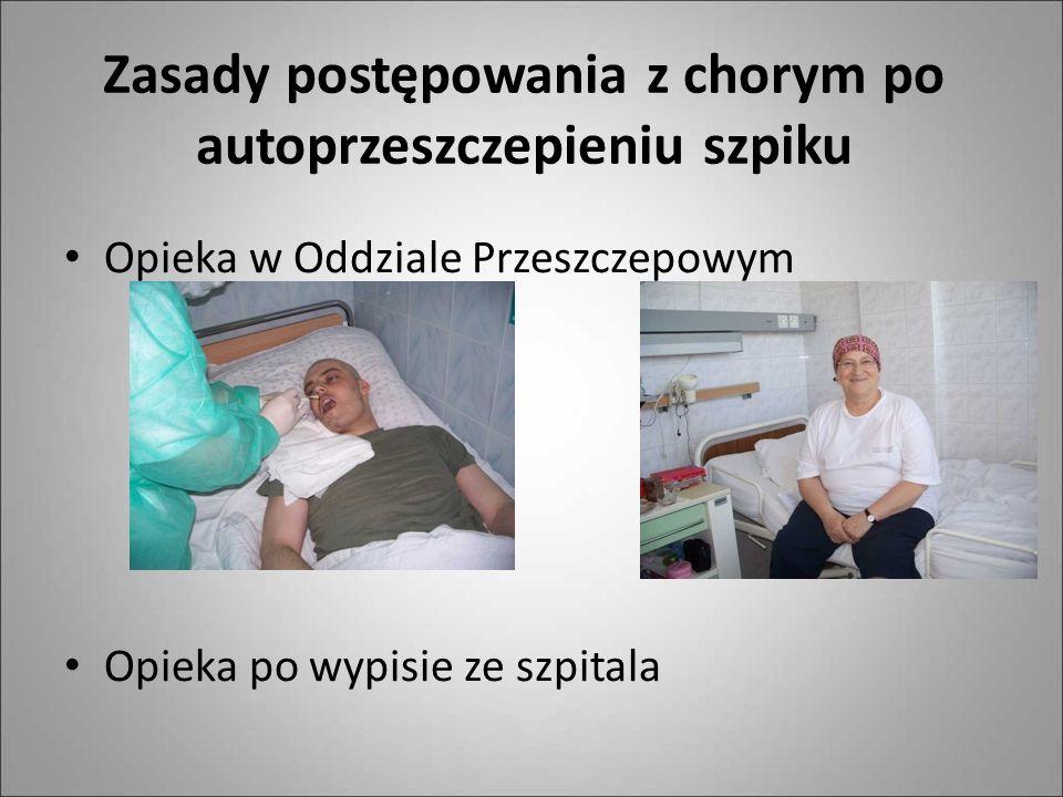 Zasady postępowania z chorym po autoprzeszczepieniu szpiku Opieka w Oddziale Przeszczepowym Opieka po wypisie ze szpitala
