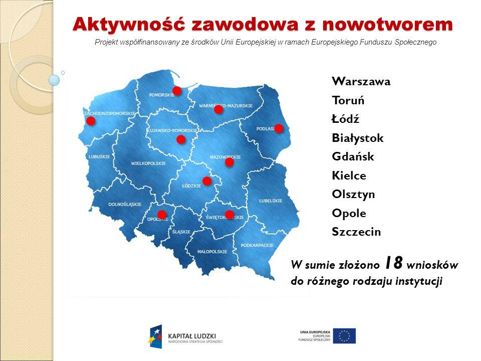 Aktywność zawodowa z nowotworem Projekt współfinansowany ze środków Unii Europejskiej w ramach Europejskiego Funduszu Społecznego Warszawa Toruń Łódź