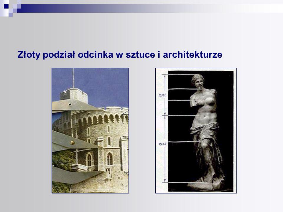 Złoty podział odcinka w sztuce i architekturze