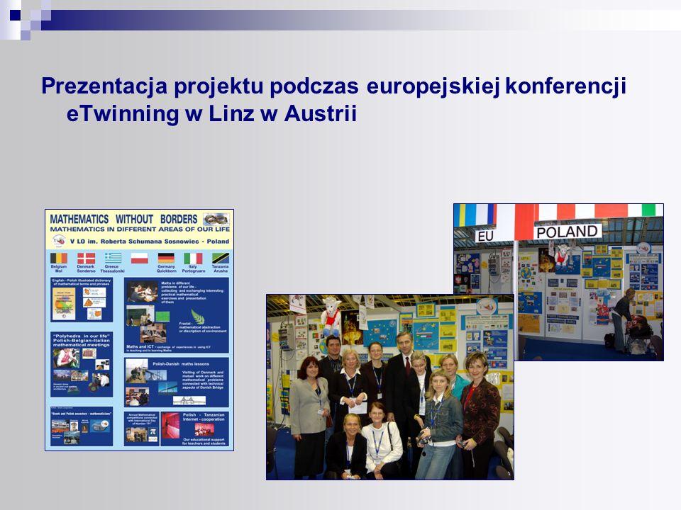 Prezentacja projektu podczas europejskiej konferencji eTwinning w Linz w Austrii