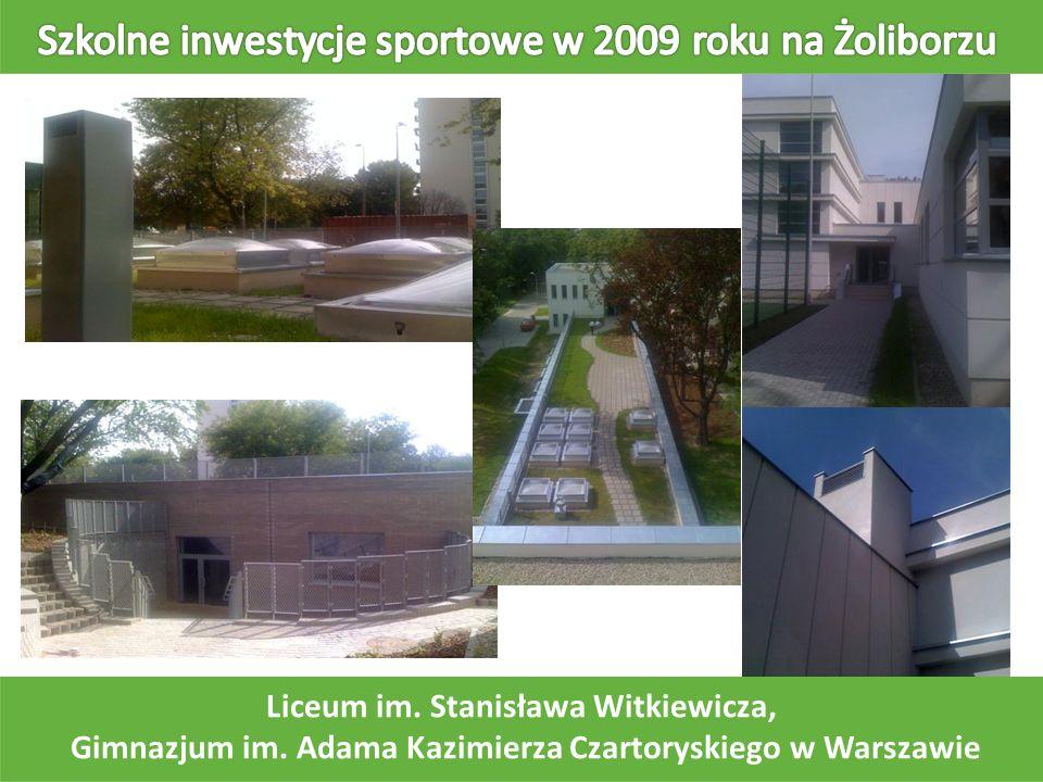 Liceum im. Stanisława Witkiewicza, Gimnazjum im. Adama Kazimierza Czartoryskiego w Warszawie
