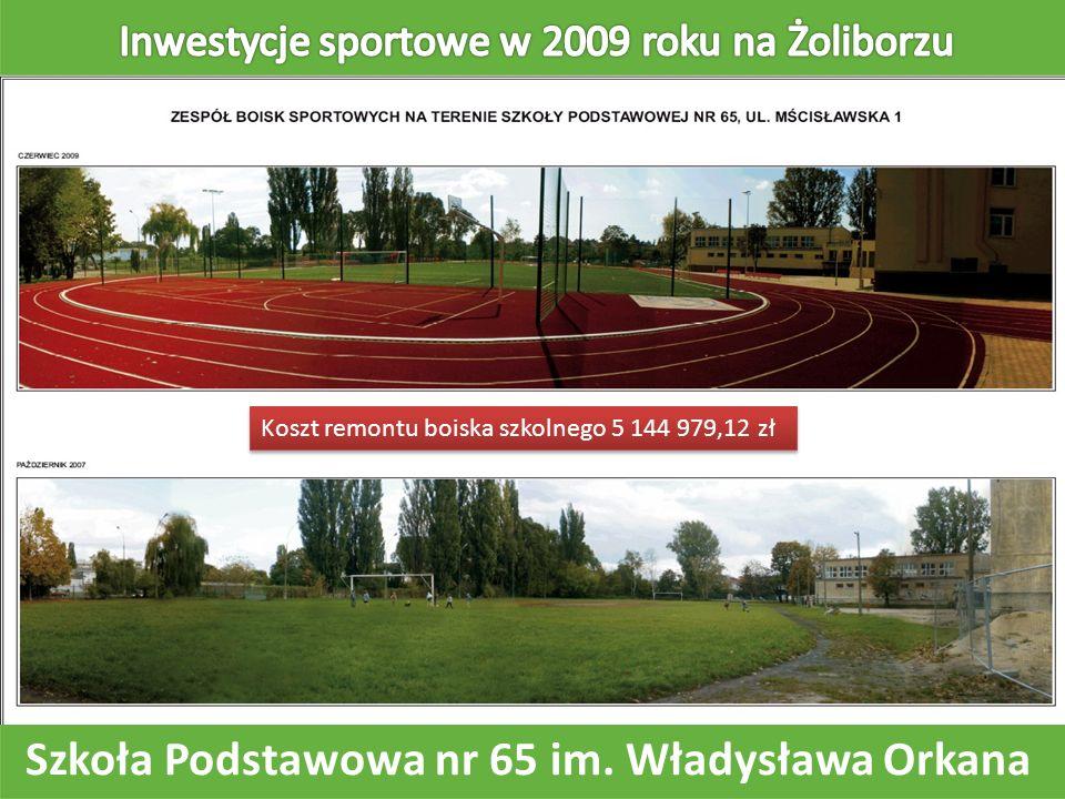 Szkoła Podstawowa nr 65 im. Władysława Orkana Koszt remontu boiska szkolnego 5 144 979,12 zł