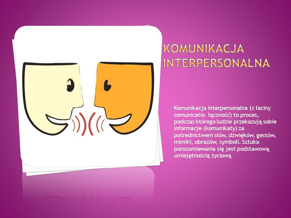 Komunikacja interpersonalna (z łaciny comunicatio łączność) to proces, podczas którego ludzie przekazują sobie informacje (komunikaty) za pośrednictwe