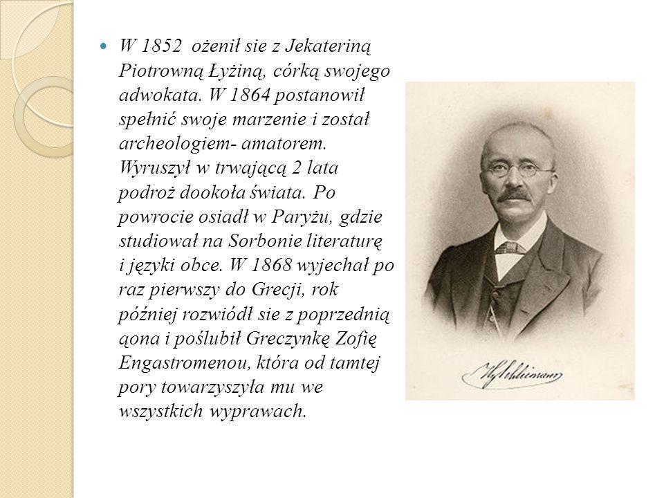 W 1852 ożenił sie z Jekateriną Piotrowną Łyżiną, córką swojego adwokata.