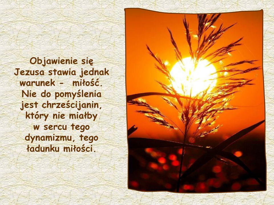 Kto zaś Mnie miłuje, ten będzie umiłowany przez Ojca mego, a również Ja będę go miłował i objawię mu siebie (J 14,21)