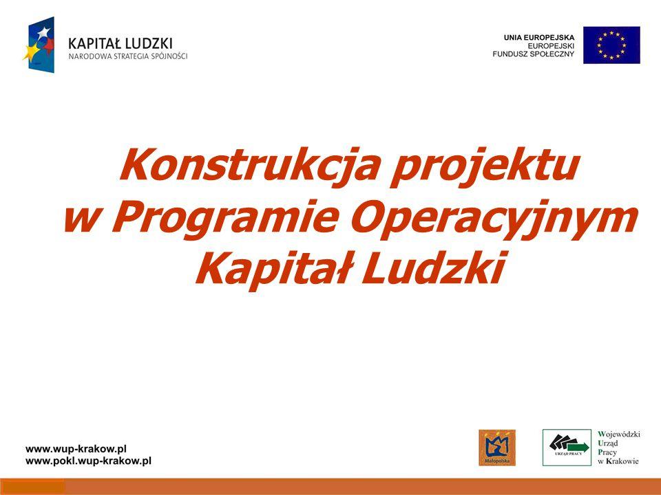Konstrukcja projektu w Programie Operacyjnym Kapitał Ludzki