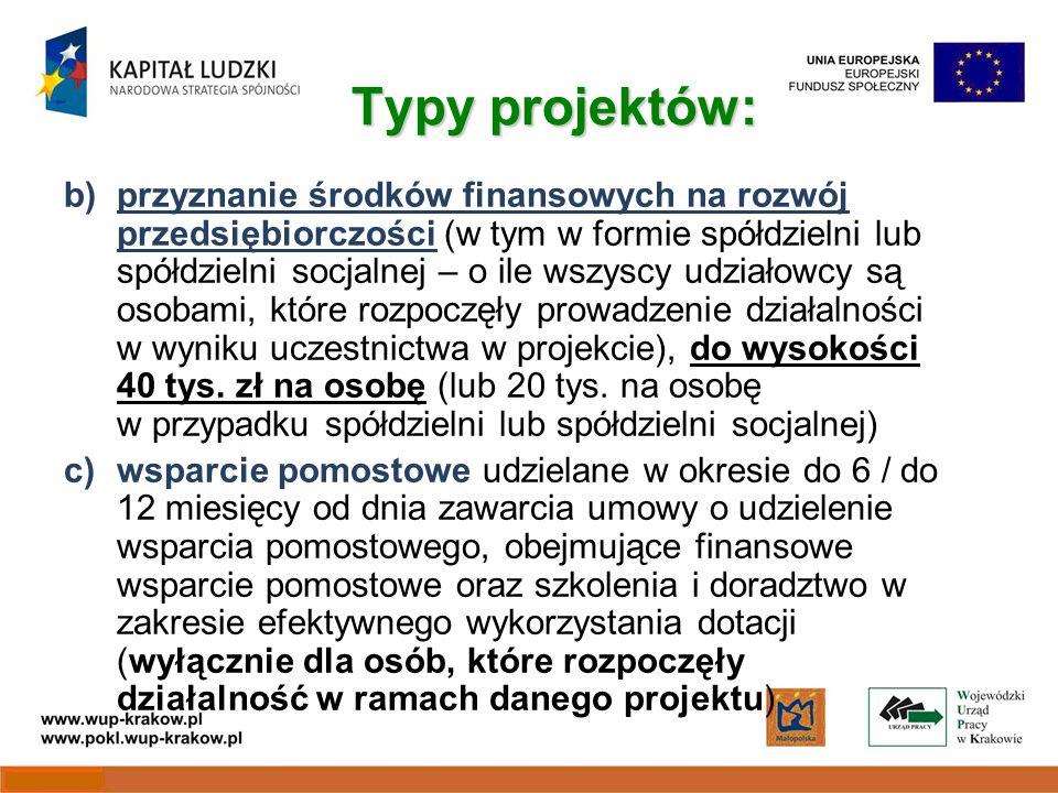 Wytyczne Ze względu na charakter projektów realizowanych w ramach Działania 6.2 dokumentem niezbędnym do przygotowania wniosku i realizacji projektu są: Wytyczne w sprawie udzielania pomocy na rozwój przedsiębiorczości z 29 czerwca 2010 r.