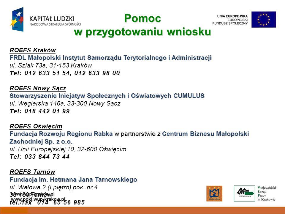 ROEFS Kraków FRDL Małopolski Instytut Samorządu Terytorialnego i Administracji ul.