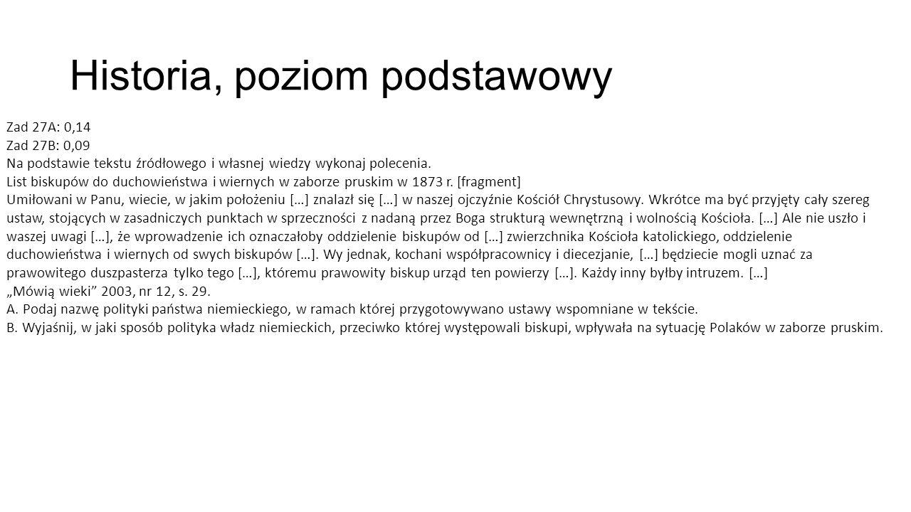 Historia, poziom podstawowy Zad 27A: 0,14 Zad 27B: 0,09 Na podstawie tekstu źródłowego i własnej wiedzy wykonaj polecenia.
