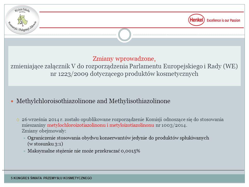 Methylchloroisothiazolinone and Methylisothiazolinone  26 września 2014 r.