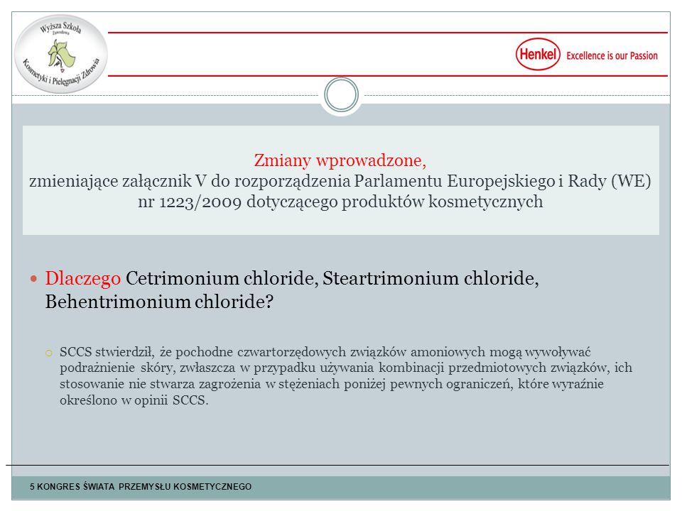 Dlaczego Cetrimonium chloride, Steartrimonium chloride, Behentrimonium chloride.