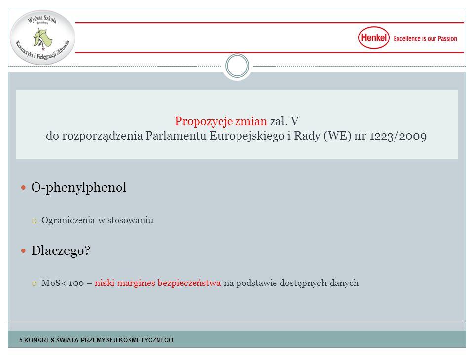 O-phenylphenol  Ograniczenia w stosowaniu Dlaczego.