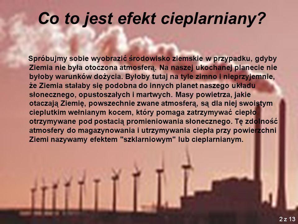 2 Co to jest efekt cieplarniany.