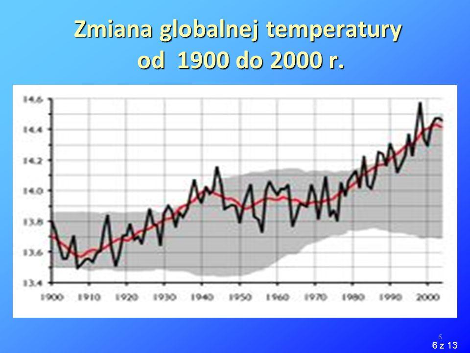 6 Zmiana globalnej temperatury od 1900 do 2000 r. 6 z 13