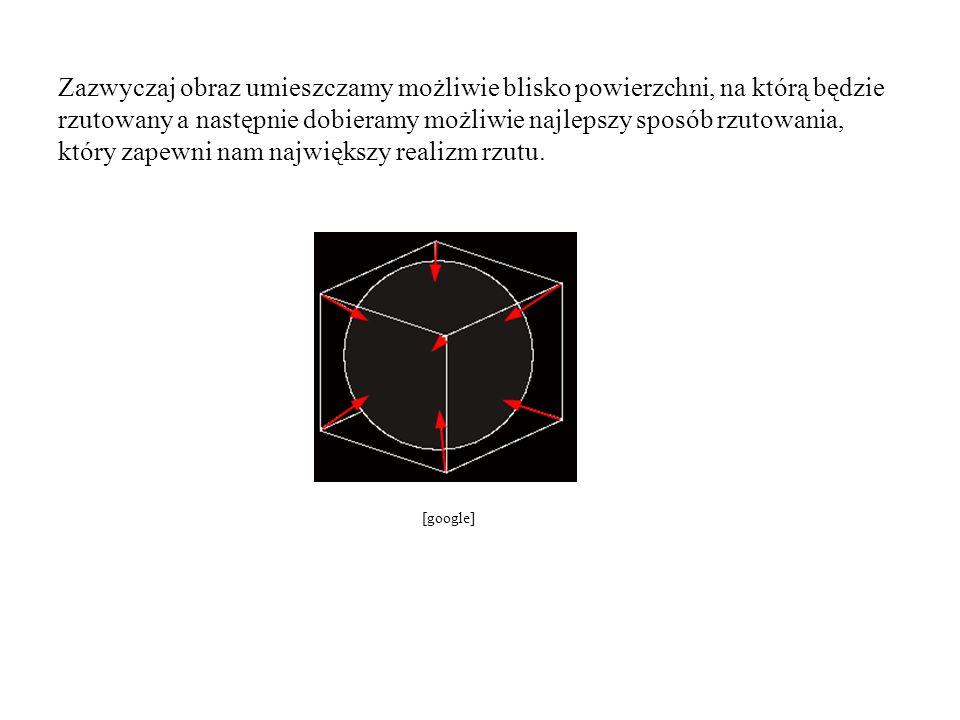 Przykłady.Projekcja sferyczna. Projekcja cylindryczna.