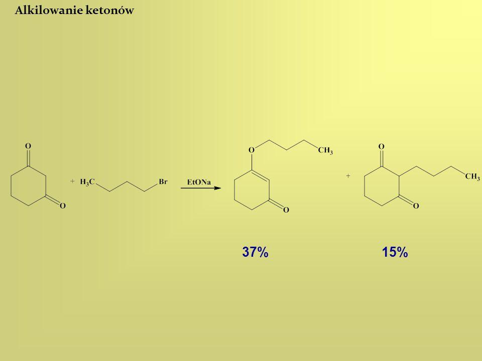 Alkilowanie ketonów 37%15%