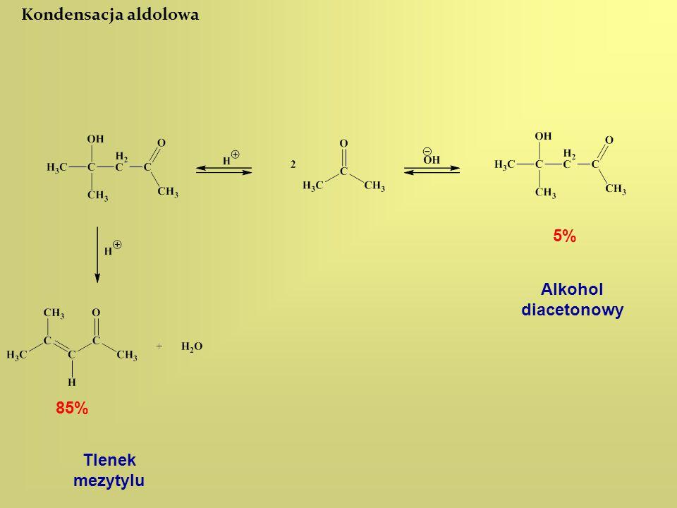 Kondensacja aldolowa Alkohol diacetonowy Tlenek mezytylu 85% 5%