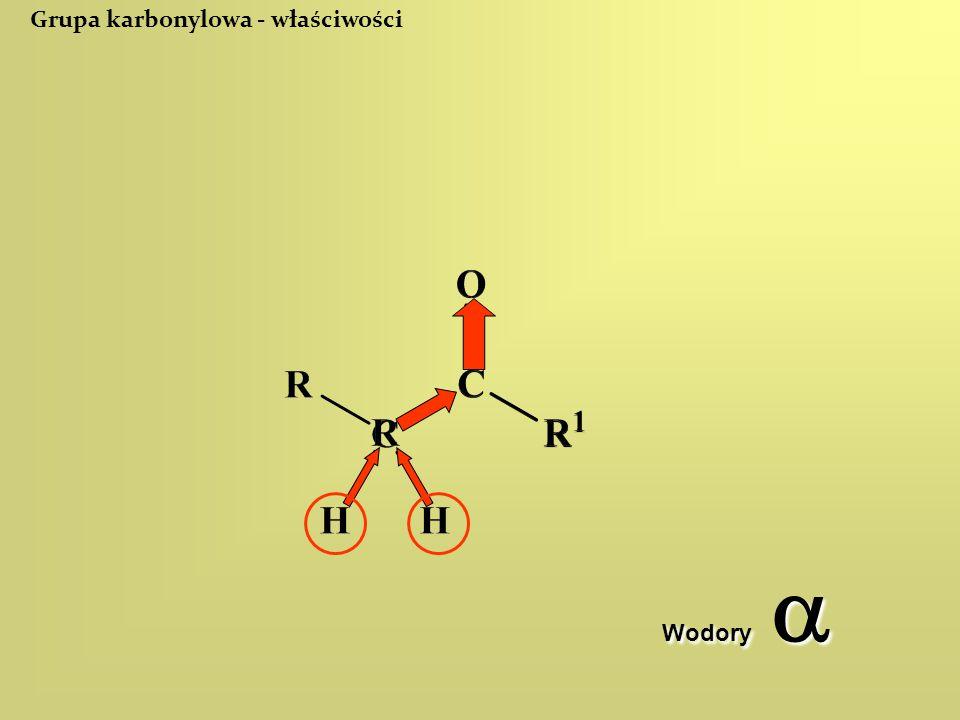 Grupa karbonylowa - właściwości Wodory 