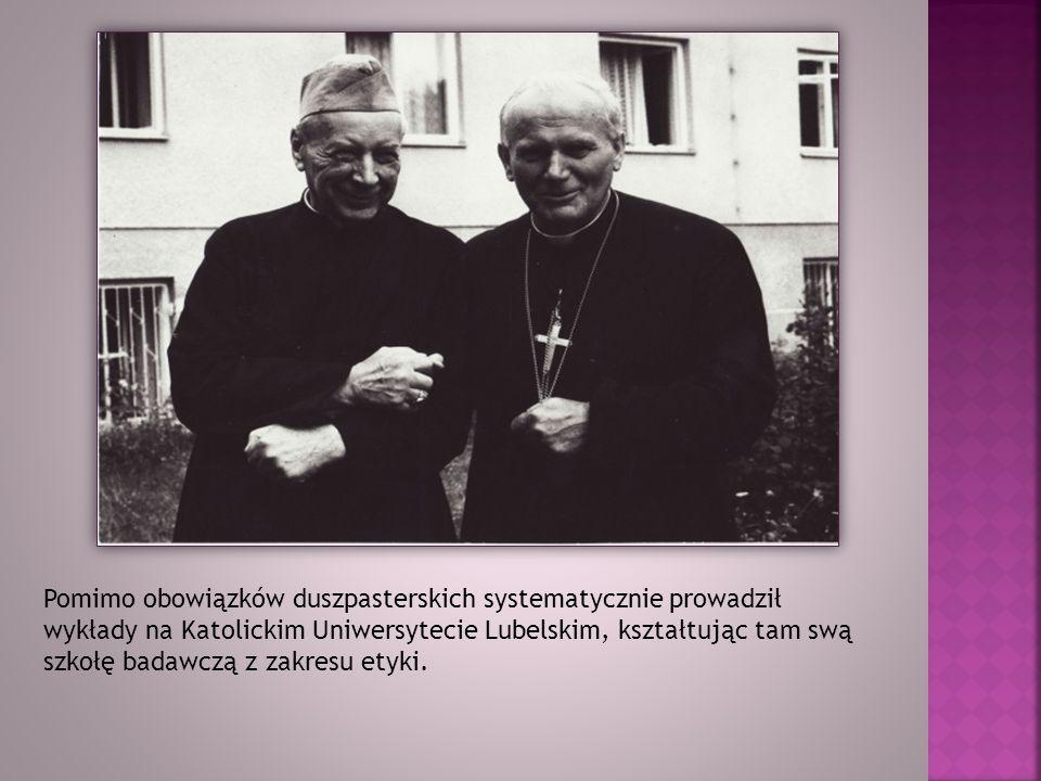 Pomimo obowiązków duszpasterskich systematycznie prowadził wykłady na Katolickim Uniwersytecie Lubelskim, kształtując tam swą szkołę badawczą z zakres