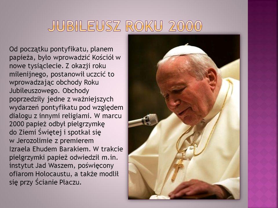 Od początku pontyfikatu, planem papieża, było wprowadzić Kościół w nowe tysiąclecie. Z okazji roku milenijnego, postanowił uczcić to wprowadzając obch