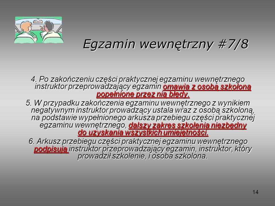 14 Egzamin wewnętrzny #7/8 4.