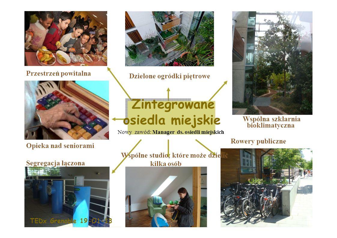 Dzielone ogródki piętrowe Zintegrowane osiedla miejskie Nowy zawód: Manager ds.