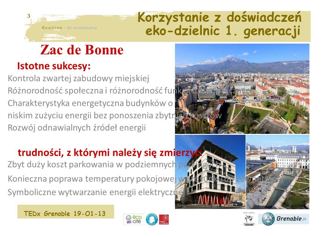 4 Zagadnienia związane z miastem przyszłości Walka z segregacją społeczną i przestrzenną Odnalezienie atrakcyjności i komfortu miejskiego życia Zmniejszenie liczby samochodów w mieście Ograniczenie wyczerpywania się zasobów Walka z zanieczyszczeniem powietrza Wprowadzenie przyrody do miasta Władze miejskie podejmują działania, aby chronić planetę Porażka rządu TEDx Grenoble 19-O1-13