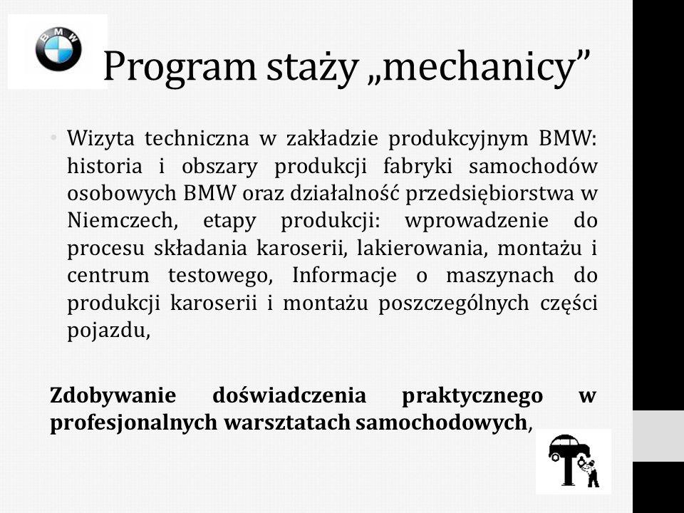 Wizyta techniczna w zakładzie produkcyjnym BMW: historia i obszary produkcji fabryki samochodów osobowych BMW oraz działalność przedsiębiorstwa w Niem