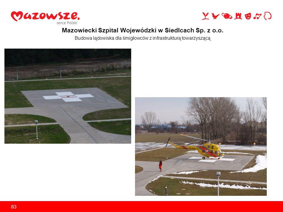 Mazowiecki Szpital Wojewódzki w Siedlcach Sp. z o.o. Modernizacja bloków operacyjnych 84