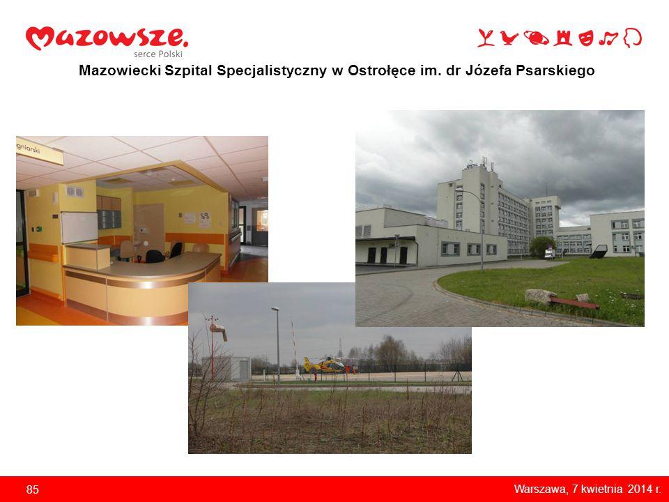 Mazowiecki Szpital Specjalistyczny w Ostrołęce im. dr Józefa Psarskiego Zakup sprzętu 86