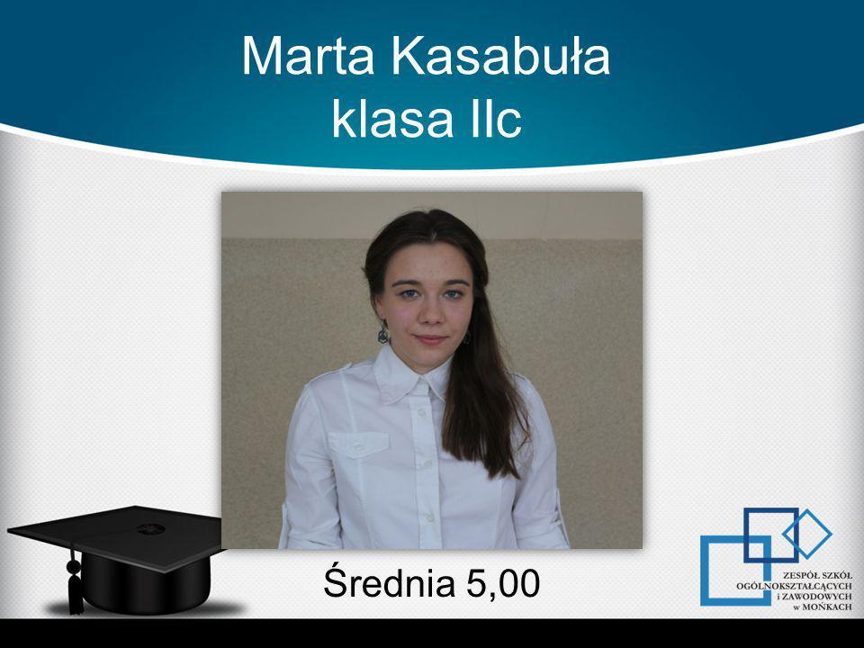 Marta Kasabuła klasa IIc Średnia 5,00