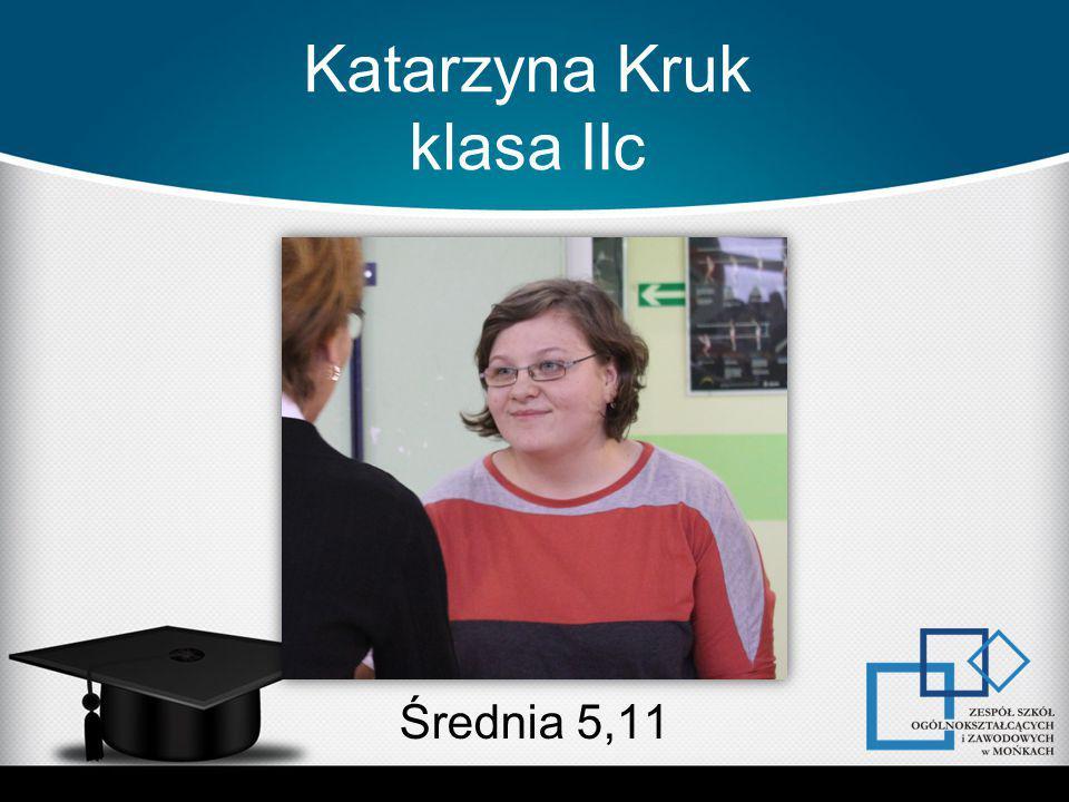 Katarzyna Kruk klasa IIc Średnia 5,11