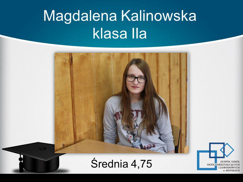 Magdalena Kalinowska klasa IIa Średnia 4,75